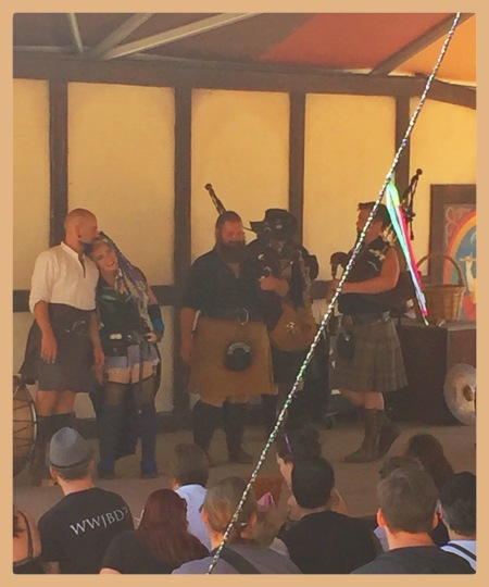 Tartanic, bagpipe music with an awesome, thumping beat.